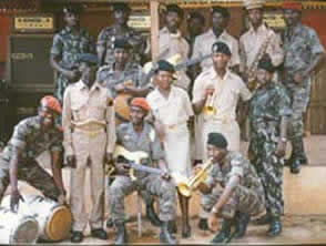 Le groupe Commando Jazz à l'Escadron Monté